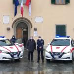 Auto elettriche in dotazione alla polizia municipale