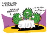 il coronavirus al ristorante